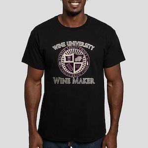 WineUWineMaker Men's Fitted T-Shirt (dark)