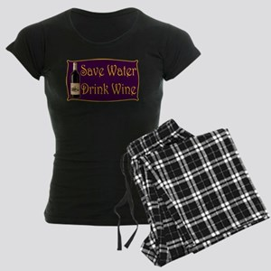 SaveWaterDrinkWine3 Women's Dark Pajamas