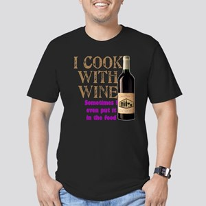 ICookWithWine Men's Fitted T-Shirt (dark)
