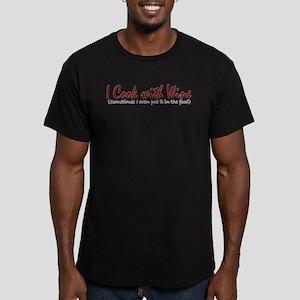 ICookWithWineNoBottle Men's Fitted T-Shirt (da