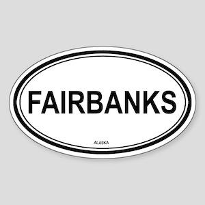Fairbanks (Alaska) Oval Sticker