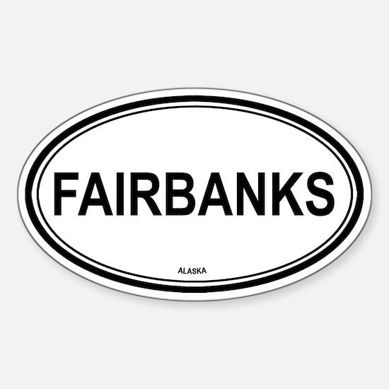 Fairbanks (Alaska) Oval Decal