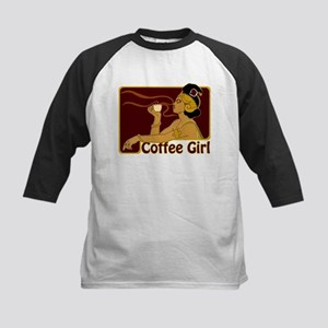 Nouveau Coffee Girl Kids Baseball Jersey