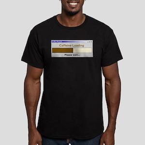 CaffeineLoading.PNG Men's Fitted T-Shirt (dark)