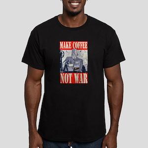 Make Coffee Not War Men's Fitted T-Shirt (dark)