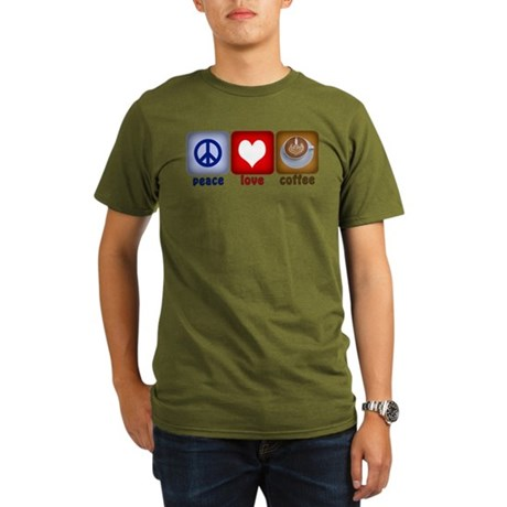 PeaceLoveCoffee-Sideways.PNG Organic Men's T-Shirt