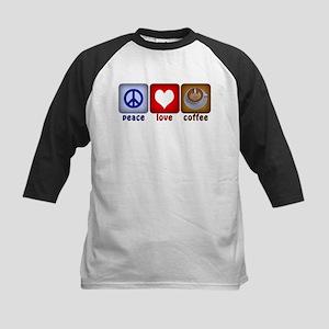 PeaceLoveCoffee-Sideways Kids Baseball Jersey