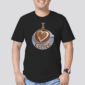ILoveCoffeeCup.PNG Men's Fitted T-Shirt (dark)