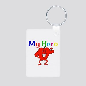 My Hero Aluminum Photo Keychain