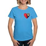 2-Sided Half My Heart Women's Dark T-Shirt
