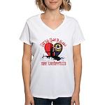 Half My Heart Women's V-Neck T-Shirt
