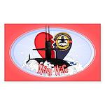 Navy Wife Sticker (Rectangle)
