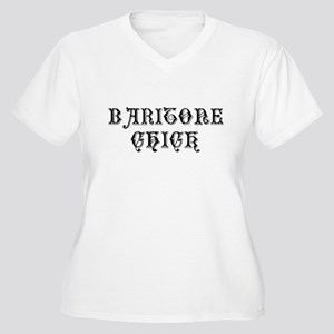 Baritone Chick Women's Plus Size V-Neck T-Shirt