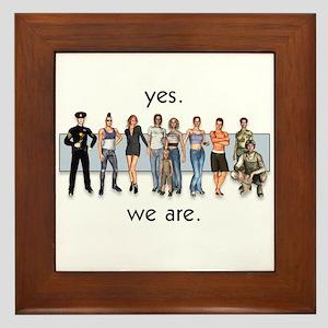 Yes. We Are. Gay/Lesbian Framed Tile