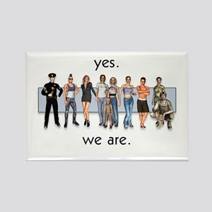 Yes. We Are. Gay/Lesbian Rectangle Magnet