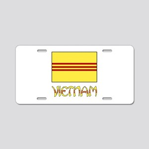 S. Vietnam Flag & Name Black Aluminum License Plat