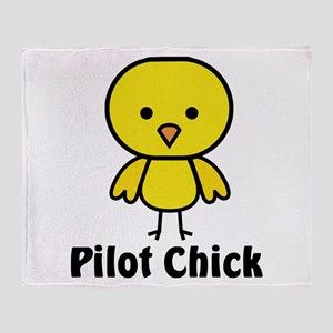 Pilot Chick Throw Blanket