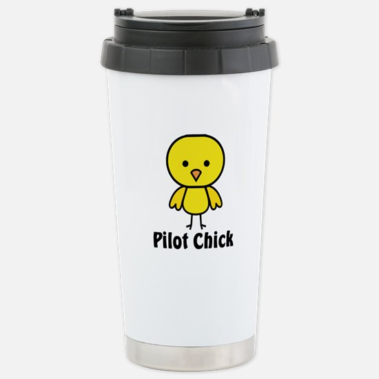 Pilot Chick Stainless Steel Travel Mug