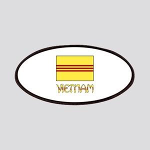 S. Vietnam Flag & Name Black Patches