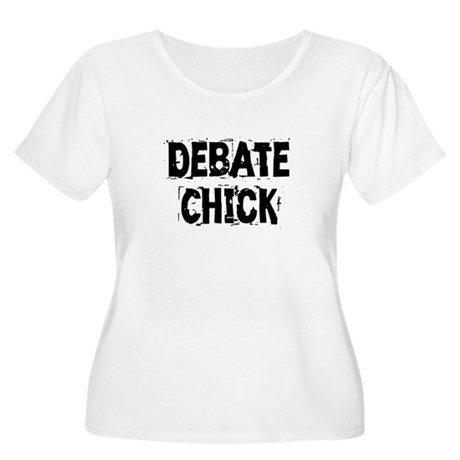 Debate Chick Women's Plus Size Scoop Neck T-Shirt