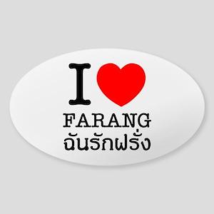 I Heart (Love) Farang Sticker (Oval)