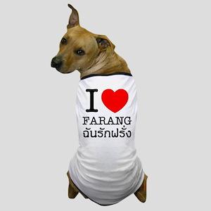 I Heart (Love) Farang Dog T-Shirt