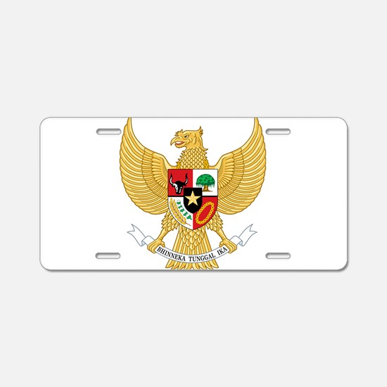 Indonesia Coat Of Arms Aluminum License Plate