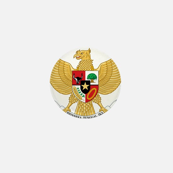 Indonesia Coat Of Arms Mini Button