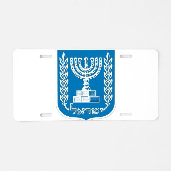 Israel Coat Of Arms Aluminum License Plate
