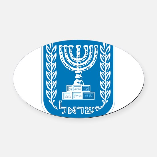 Israel Coat Of Arms Oval Car Magnet