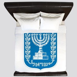 Israel Coat Of Arms King Duvet