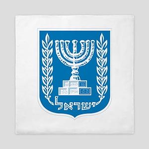 Israel Coat Of Arms Queen Duvet
