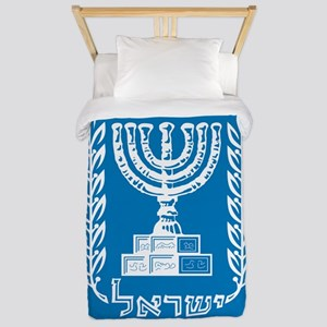 Israel Coat Of Arms Twin Duvet