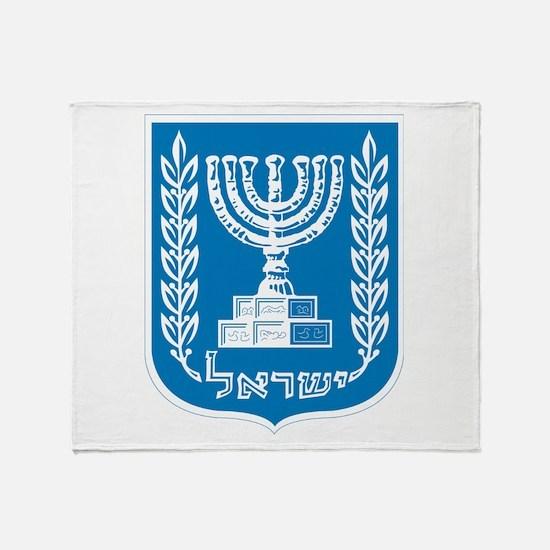 Israel Coat Of Arms Throw Blanket