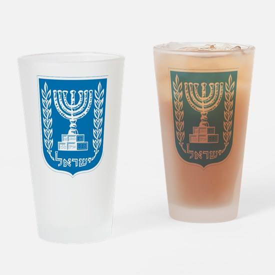 Israel Coat Of Arms Drinking Glass