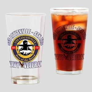 Navy Veteran SSN-724 Drinking Glass