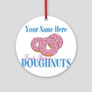 Doughnut Lover Round Ornament