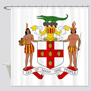Jamaica Coat Of Arms Shower Curtain