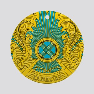 Kazakhstan Coat Of Arms Ornament (Round)