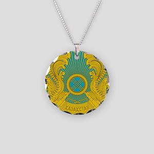 Kazakhstan Coat Of Arms Necklace Circle Charm