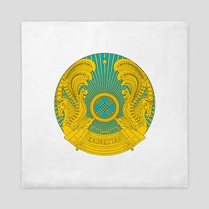 Kazakhstan Coat Of Arms Queen Duvet