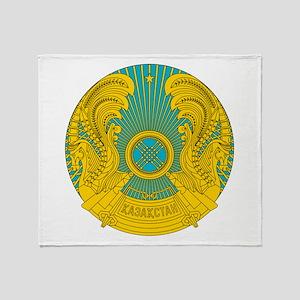 Kazakhstan Coat Of Arms Throw Blanket