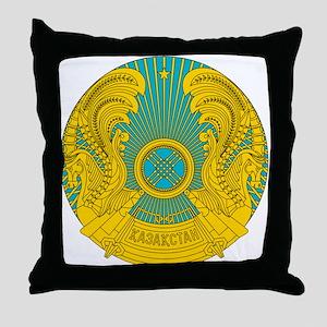 Kazakhstan Coat Of Arms Throw Pillow