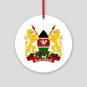 Kenya Coat Of Arms Ornament (Round)