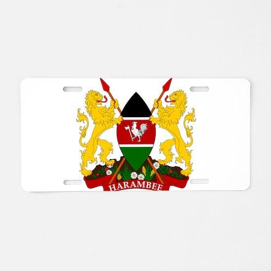 Kenya Coat Of Arms Aluminum License Plate