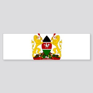 Kenya Coat Of Arms Sticker (Bumper)
