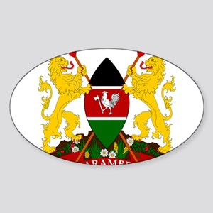 Kenya Coat Of Arms Sticker (Oval)