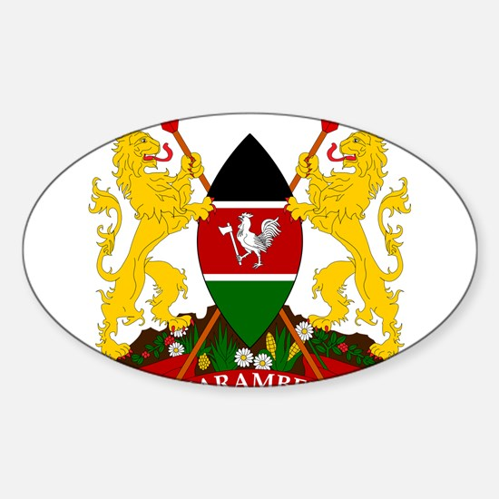 Kenya Coat Of Arms Sticker (Oval)