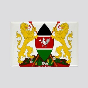 Kenya Coat Of Arms Rectangle Magnet