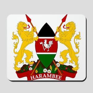Kenya Coat Of Arms Mousepad